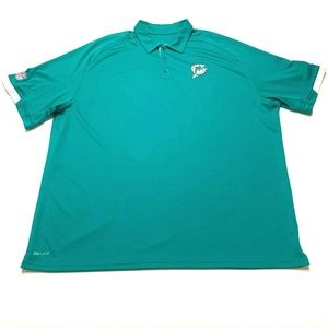 Nike NFL On Field Miami Dolphins Polo Shirt 3XL